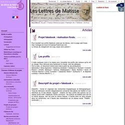 Créer de faux profils d'ecrivains (Lettres de Matisse)