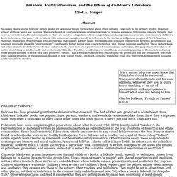 Fakelore y la ética de la Literatura Infantil y Juvenil
