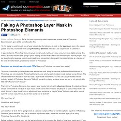 Faking A Photoshop Layer Mask In Photoshop Elements