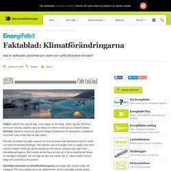 Faktablad: Klimatförändringarna