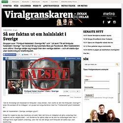 Så ser faktan ut om halalslakt i Sverige