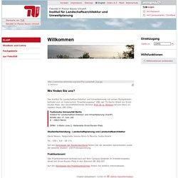 Fakultät VI Planen Bauen Umwelt: Institut für Landschaftsarchitektur und Umweltplanung