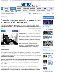 Falabella entregará solución a consumidores por frustrada venta de tablets