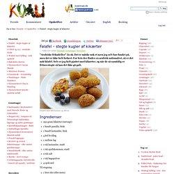 Falafel - stegte kugler af kikærter — Kvalimad