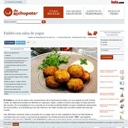 Faláfel con salsa de yogur - Recetasderechupete.com
