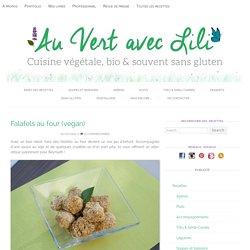 Falafels au four (vegan) - Au Vert avec Lili