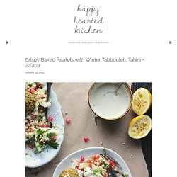 Crispy Baked Falafels with Winter Tabbouleh, Tahini + Za'atar - Happy Hearted Kitchen