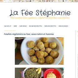 Falafels végétaliens au four, sauce tahini et hummus