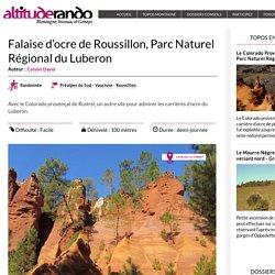 Falaise d'ocre de Roussillon, Parc Naturel Régional du Luberon