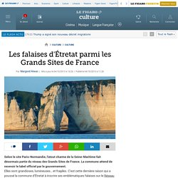 Les falaises d'Étretat parmi les Grands Sites de France