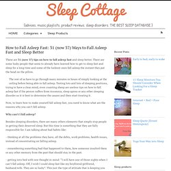 How to Fall Asleep Fast - 31 (now 37) Ways to Fall Asleep Fast and Sleep Better