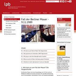 Fall der Berliner Mauer - 9. November 1989