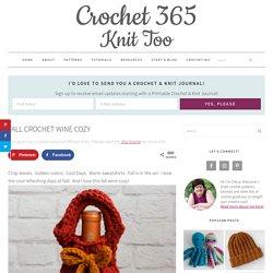 Fall Crochet Wine Cozy - Crochet 365 Knit Too
