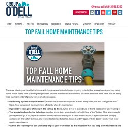 Top Fall Home Maintenance Tips « Group O'Dell