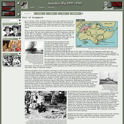 Fall of Singapore: Overview