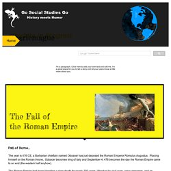 Fall of the Romans: Go History Go!
