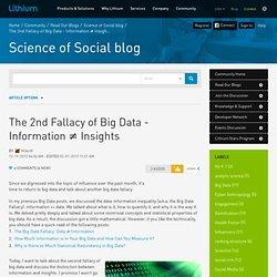 The 2nd Fallacy of Big Data - Information ≠ Insigh...