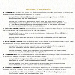 Fallacy List - StumbleUpon