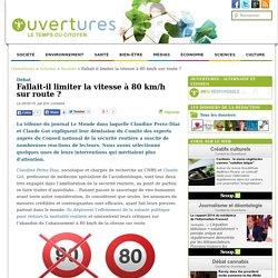 2015/03/29 - Faut-il limiter la vitesse à 80 km/h sur route ?