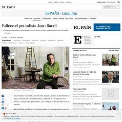 Fallece el periodista Joan Barril