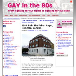 1984. Pub: The Fallen Angel, Islington, London. - Gay in the 80s