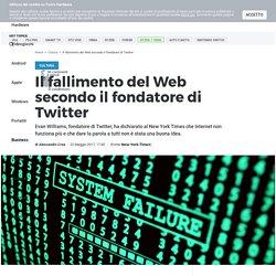 Il fallimento del Web secondo il fondatore di Twitter - Tom's Hardware