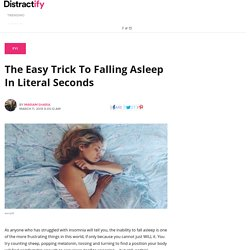 The Easy Trick To Falling Asleep In Literal Seconds