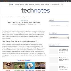 Falling for Digital Breakouts