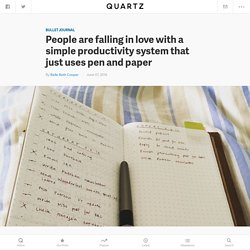 People are falling in love with the Bullet Journal, a simple productivity too...