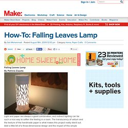 Falling Leaves Lamp : Daily source of DIY craft projects and inspiration, patterns, how-tos