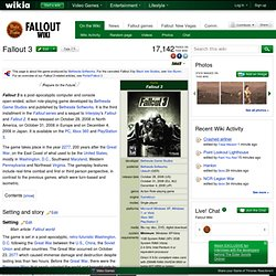 Fallout 3 - The Vault, the Fallout wiki - Fallout: New Vegas and more