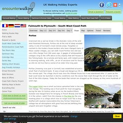 Falmouth to Plymouth - Stops - Walking Holidays in England and Wales UK