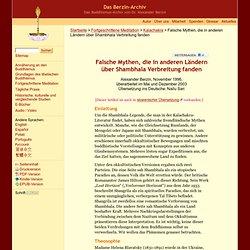 Falsche Mythen, die in anderen Ländern über Shambhala Verbreitung fanden