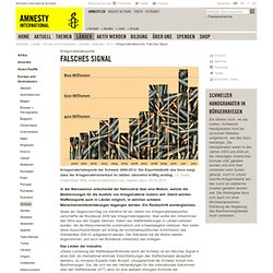 Kriegsmaterialexporte: Falsches Signal — Amnesty International Schweiz