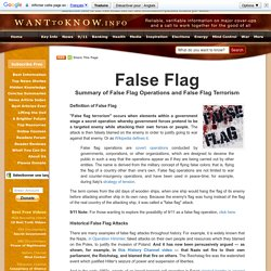 False Flag Operations