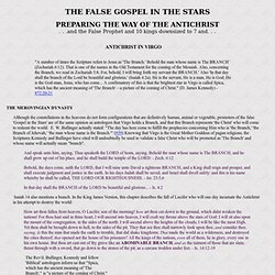 False Gospel in the Stars: Antichrist in Virgo