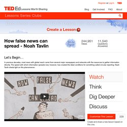 How false news can spread - Noah Tavlin