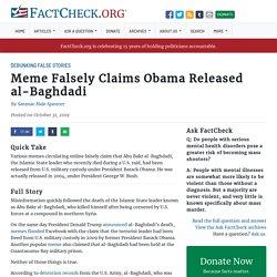 Meme Falsely Claims Obama Released al-Baghdadi
