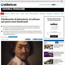 Falsificación de laboratorio: el software que pinta como Rembrandt