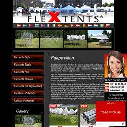 Faltpavillon FleXtents - Faltpavillon zu verkaufen. Jetzt Faltpavillon.