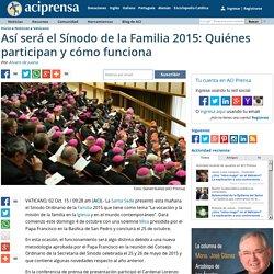 Así será el Sínodo de la Familia 2015: Quiénes participan y cómo funciona