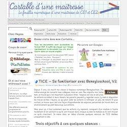 TICE – Se familiariser avec Beneyluschool, V2 « Cartable d
