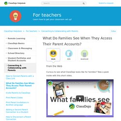 What Do Families See When They Access Their Parent Accounts?