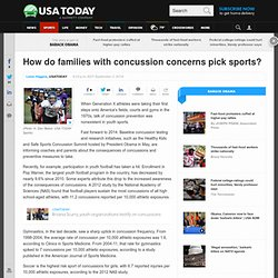 How do families with concussion concerns pick sports?