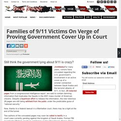 Families of 9/11 Victims On Verge of Proving Government Cover Up in Court