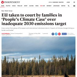 EU taken to court by families in 'People's Climate Case' over inadequate 2030 emissions target