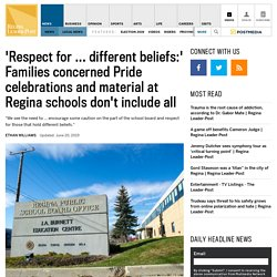 Families say material doesn't align with beliefs