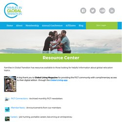 Families in Global Transition - Resource Center