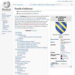 Famille d'Adhémar