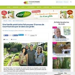 Une famille américaine fait pousser 3 tonnes de nourriture bio par an dans son jardin